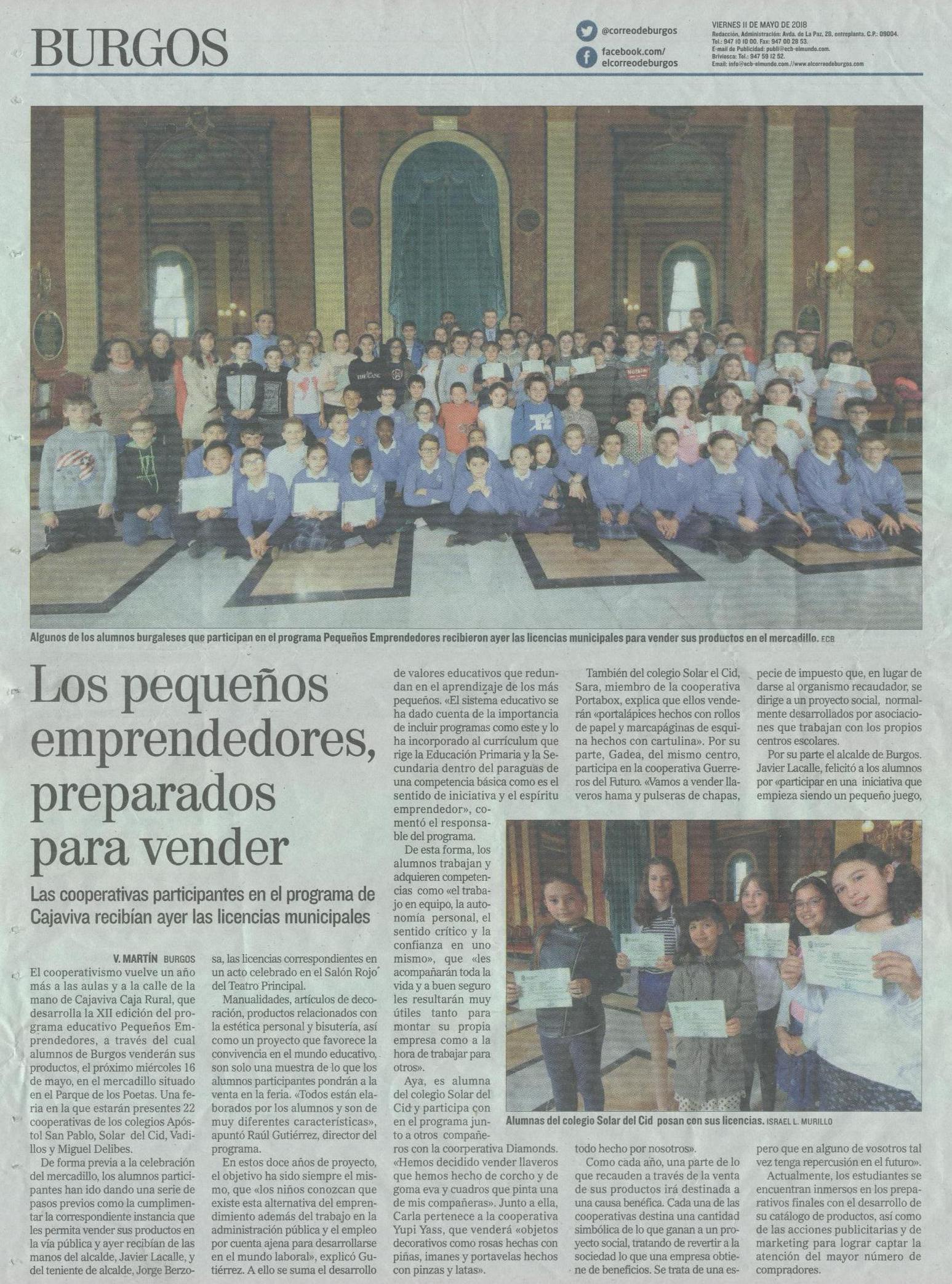 El Correo de Burgos 11-05-2018